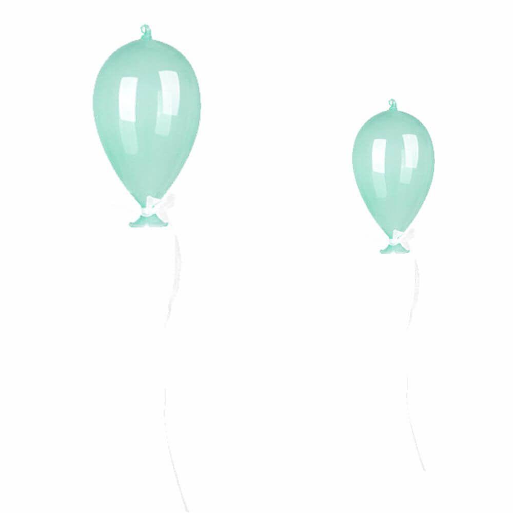 Balão Decorativo de Vidro Verde (Unidade)