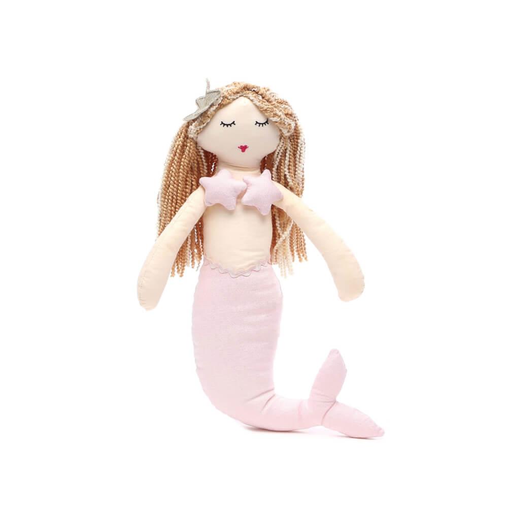 Boneca Infantil de Pano Sereia