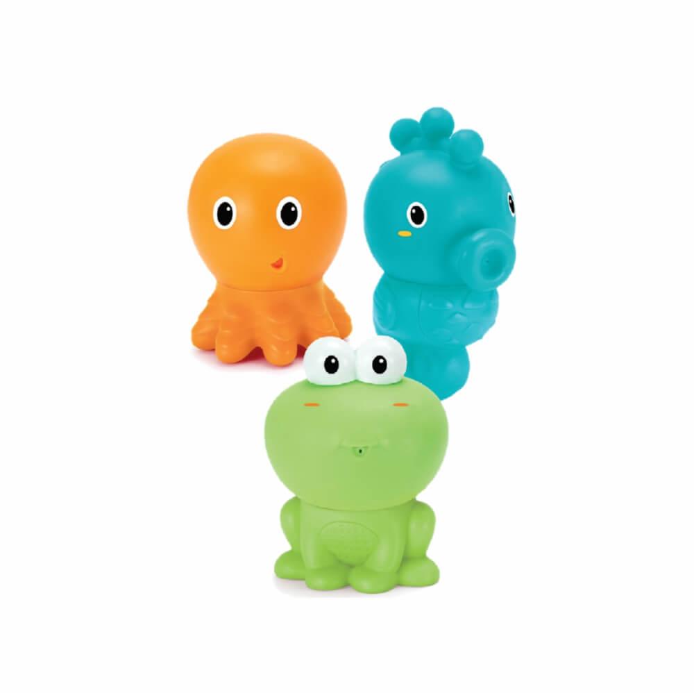 Brinquedo Banho Bichos Coloridos - Infantino (Kit com 3 Unidades)