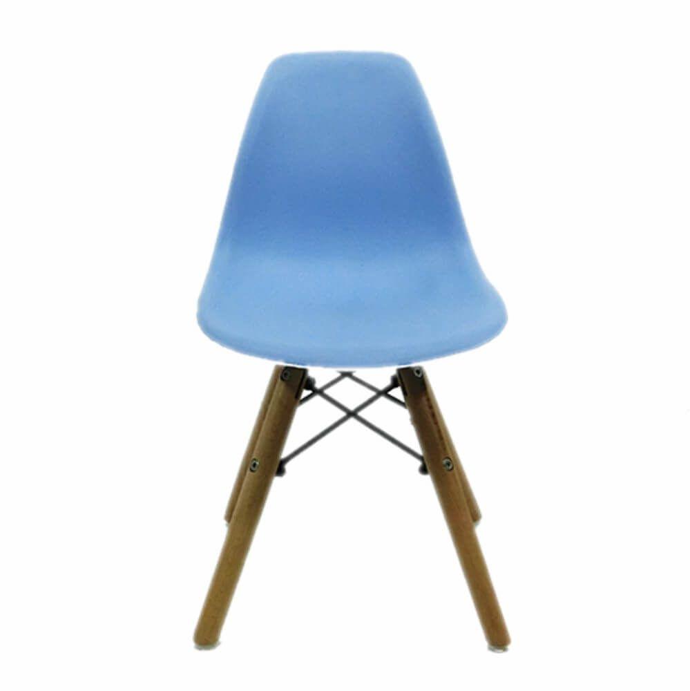 Cadeira Infantil DKR Wood Kids Polipropileno Azul