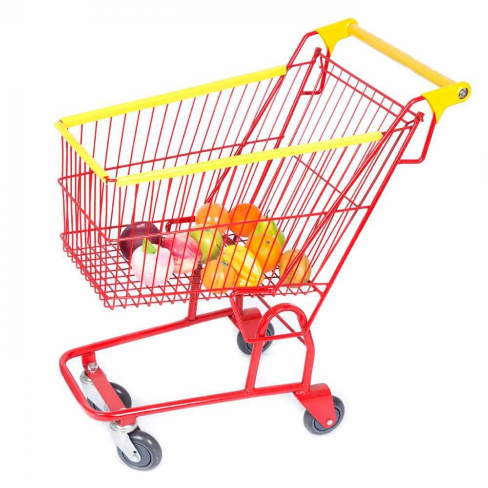 Carrinho Infantil Vermelho de Supermercado