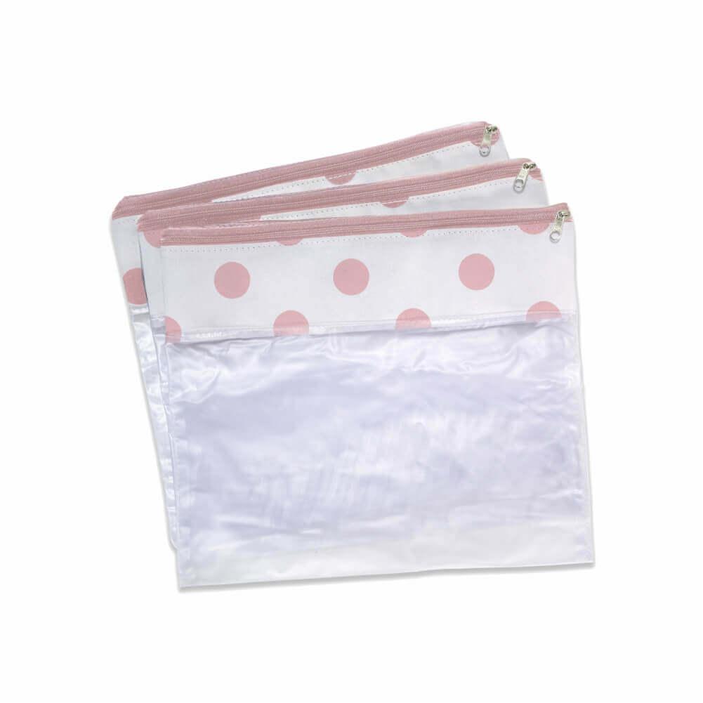 Conjunto de 3 Saquinhos Candy Pink - Masterbag Baby