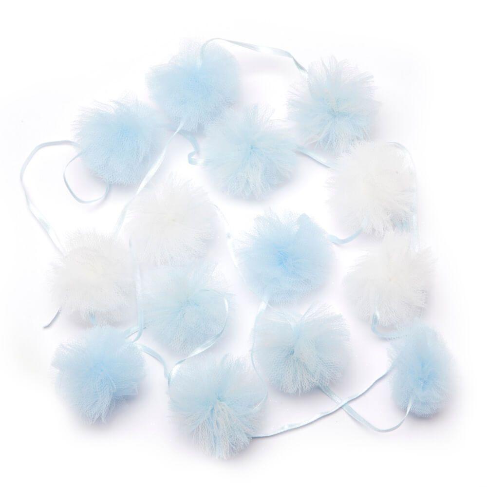 Fio Pom-Pom Grande Azul - 1 metro