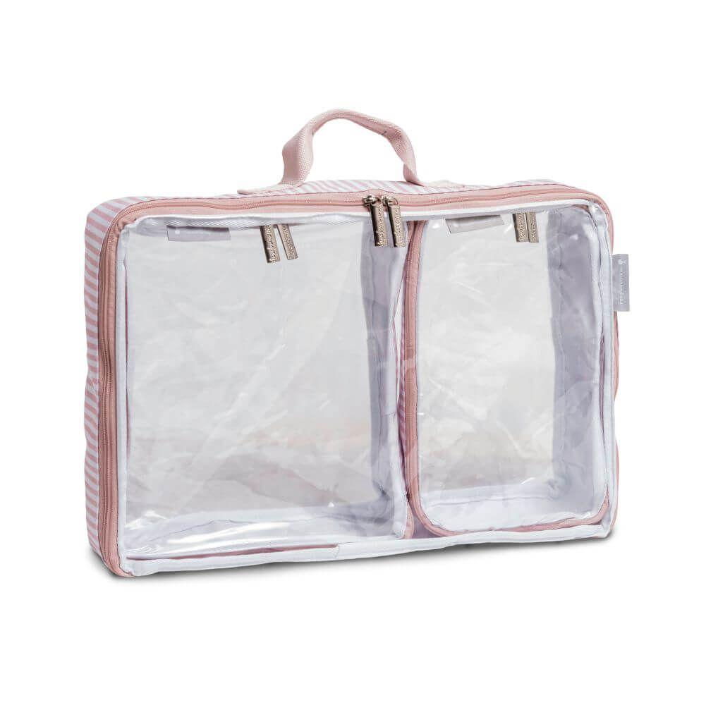 Kit com 3 Organizadores de Mala Bubbles Rosa - Masterbag Baby