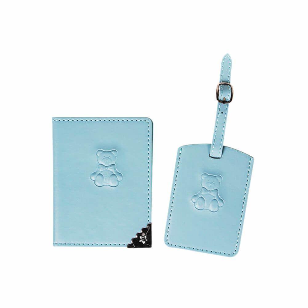 Kit Tag de Mala e Porta-passaporte Azul - Modali Baby
