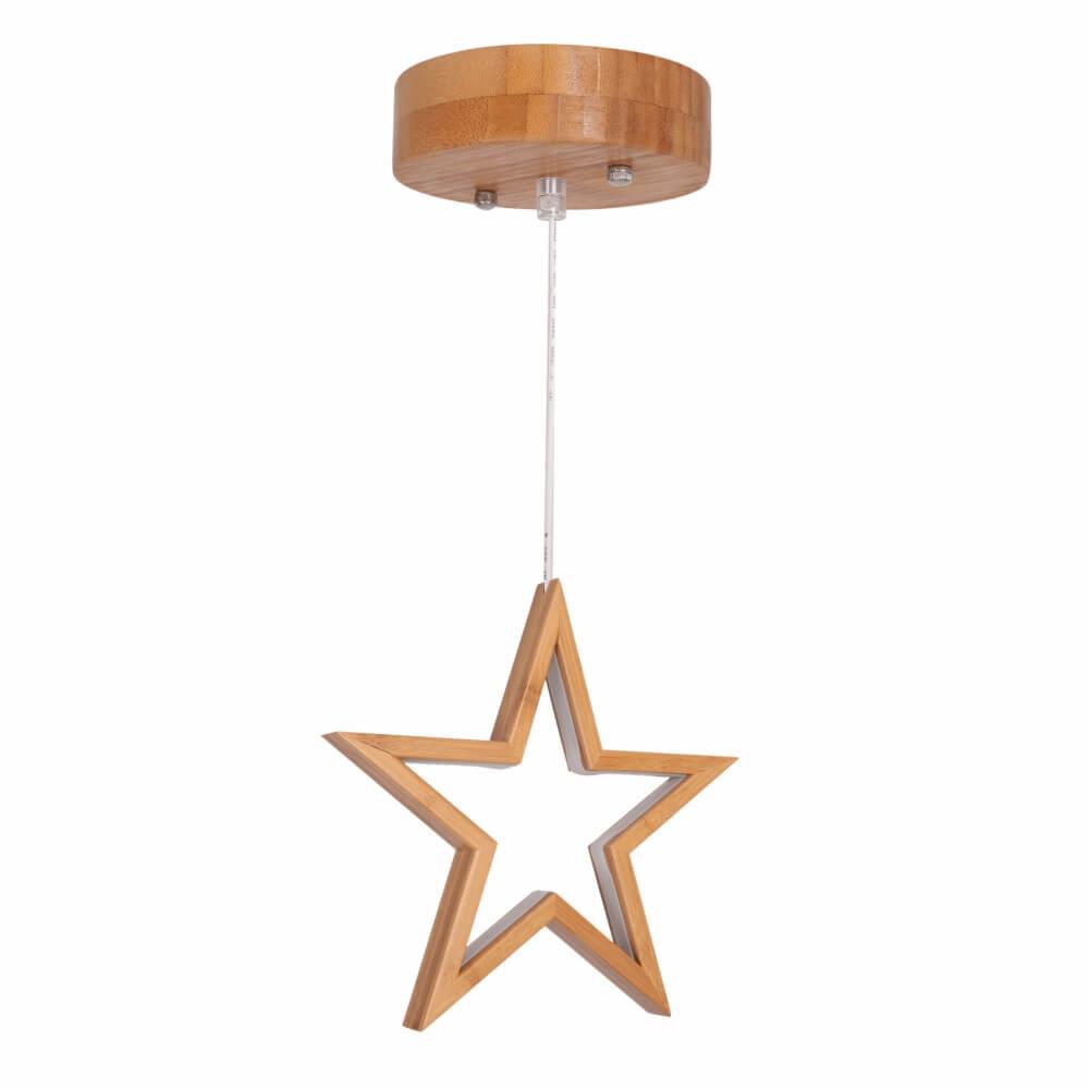 Luminária Pendente Estrela em Bambu