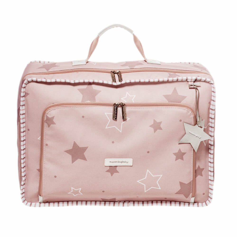 Mala Vintage Masterbag Baby Rosé com Estrelas