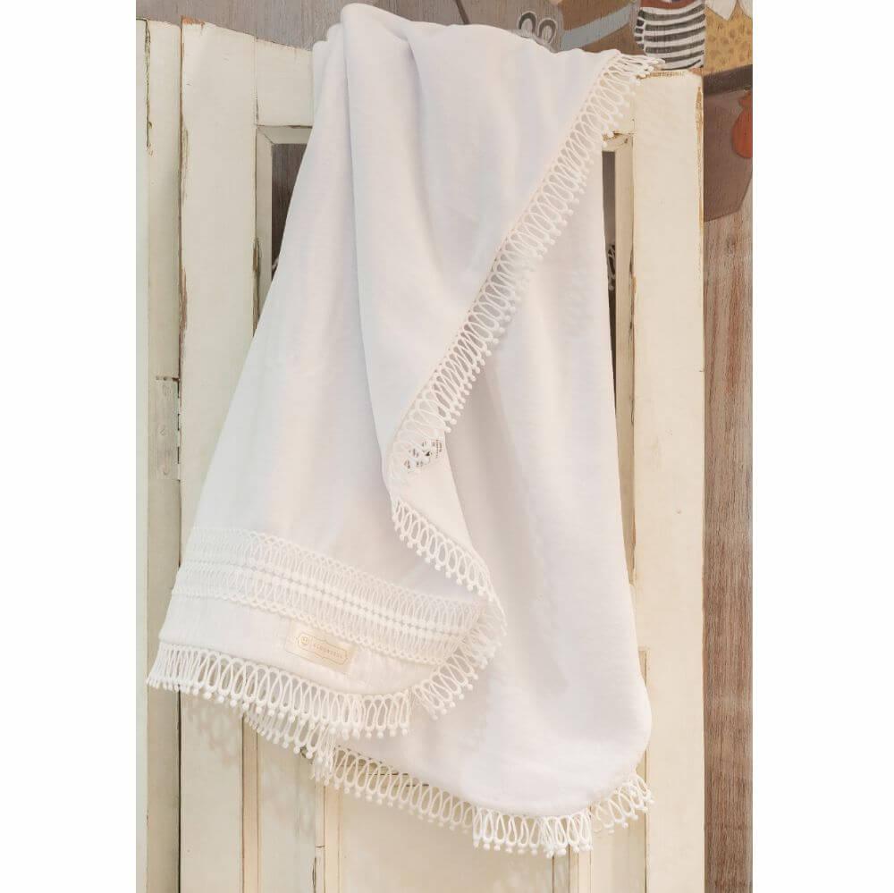 Manta para Passeio em Plush All Blanc