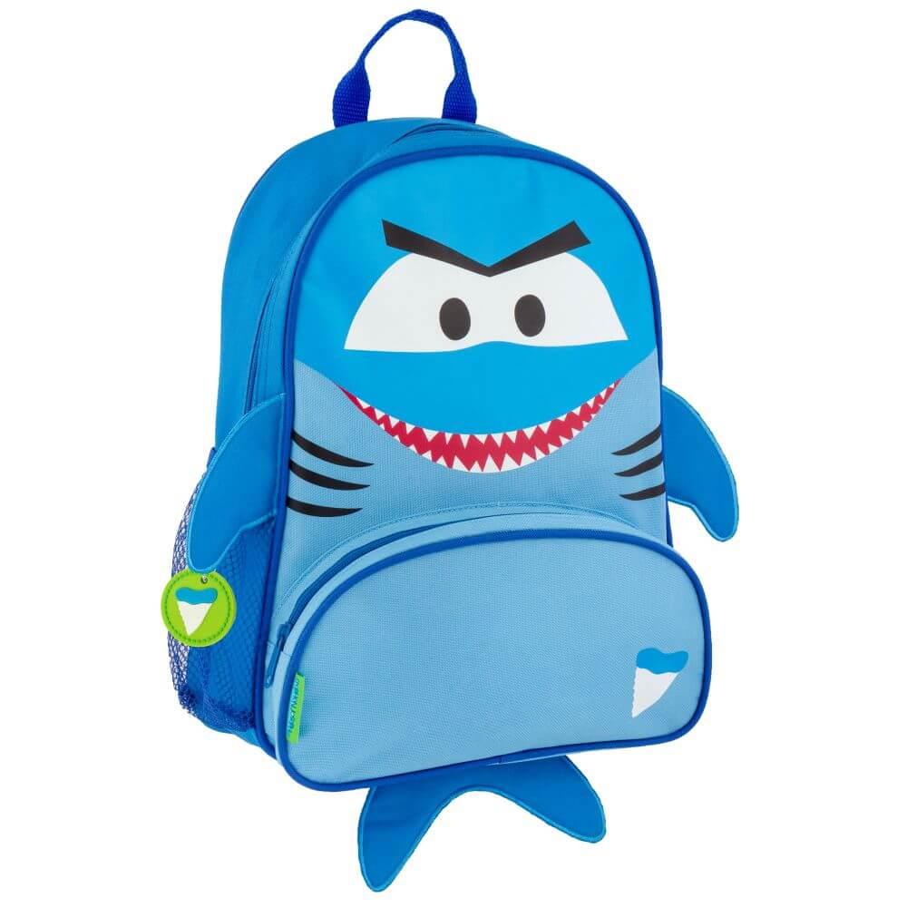 Mochila Escolar Stephen Joseph Infantil Tubarão Azul