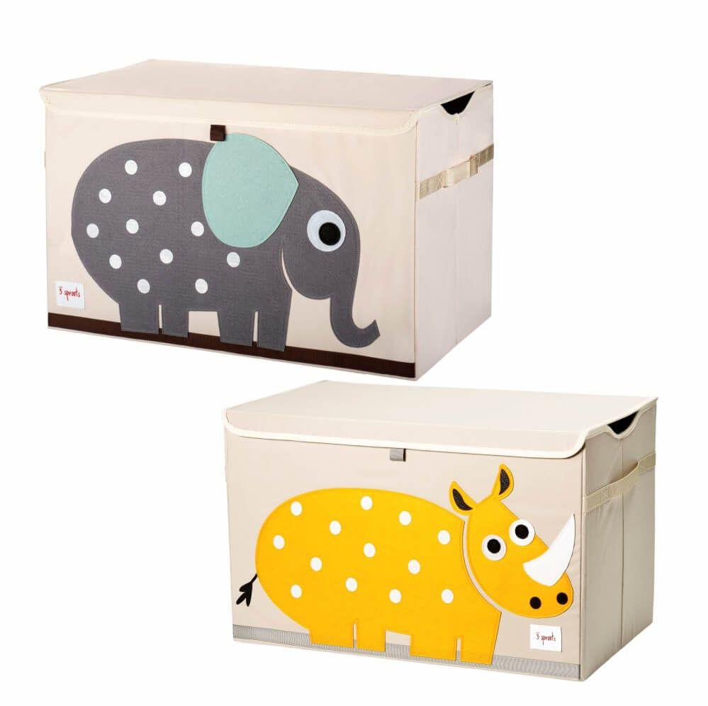 Organizador Infantil de Brinquedos Animais Retangular (Unidade) - 3 Sprouts