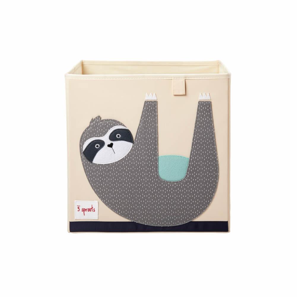 Organizador Infantil de Brinquedos Quadrado Bicho-preguiça - 3 Sprouts