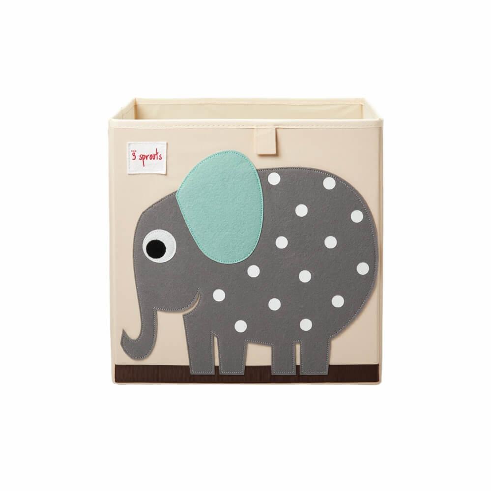 Organizador Infantil de Brinquedos Quadrado Elefante - 3 Sprouts
