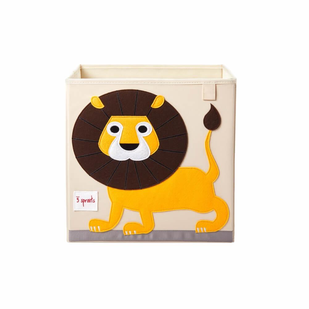 Organizador Infantil de Brinquedos Quadrado Leão - 3 Sprouts