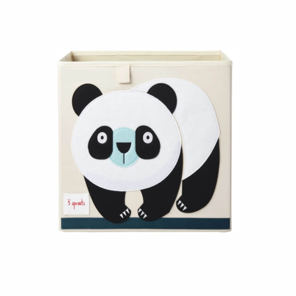 Organizador Infantil de Brinquedos Quadrado Panda - 3 Sprouts