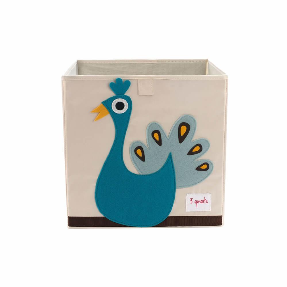Organizador Infantil de Brinquedos Quadrado Pavão - 3 Sprouts