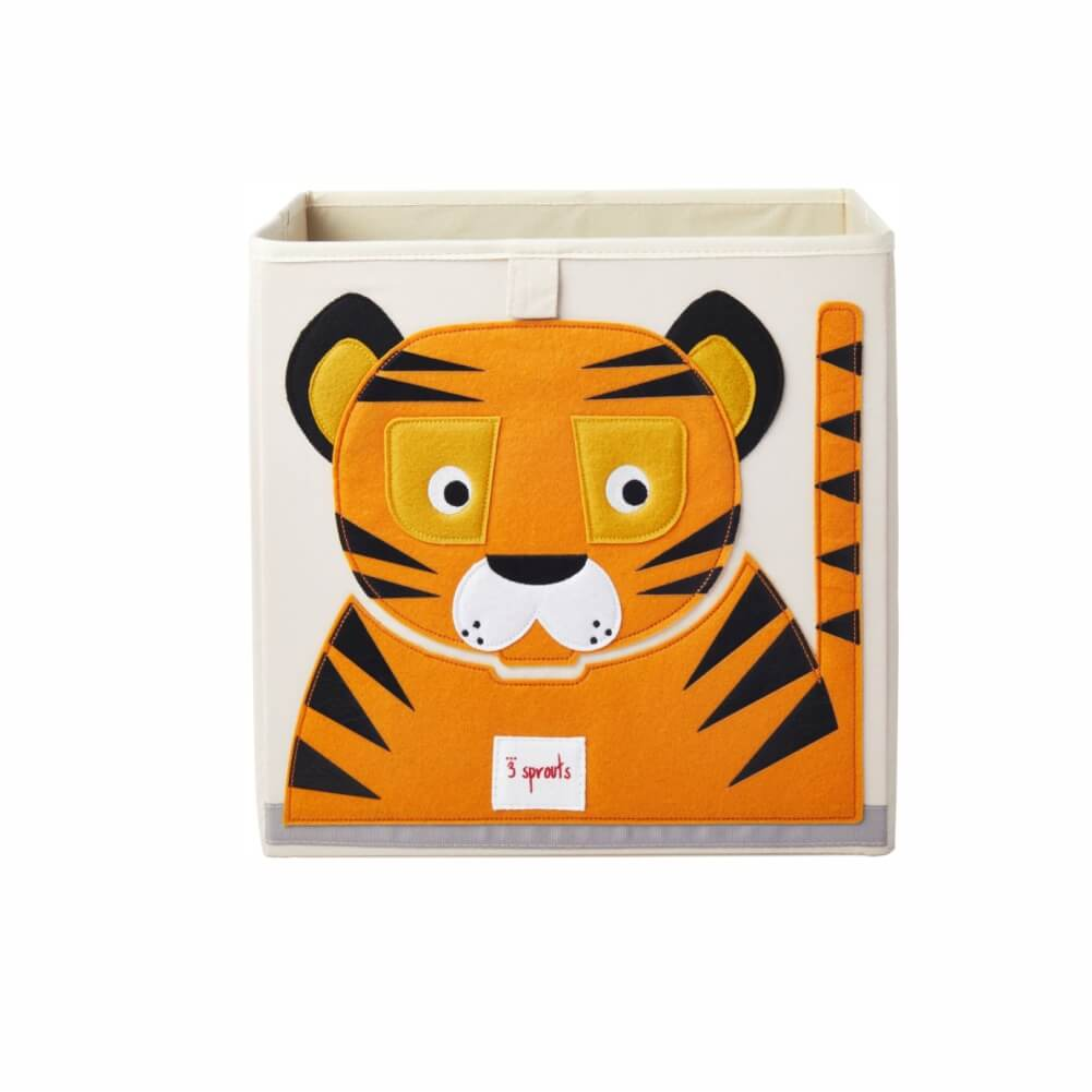 Organizador Infantil de Brinquedos Quadrado Tigre - 3 Sprouts