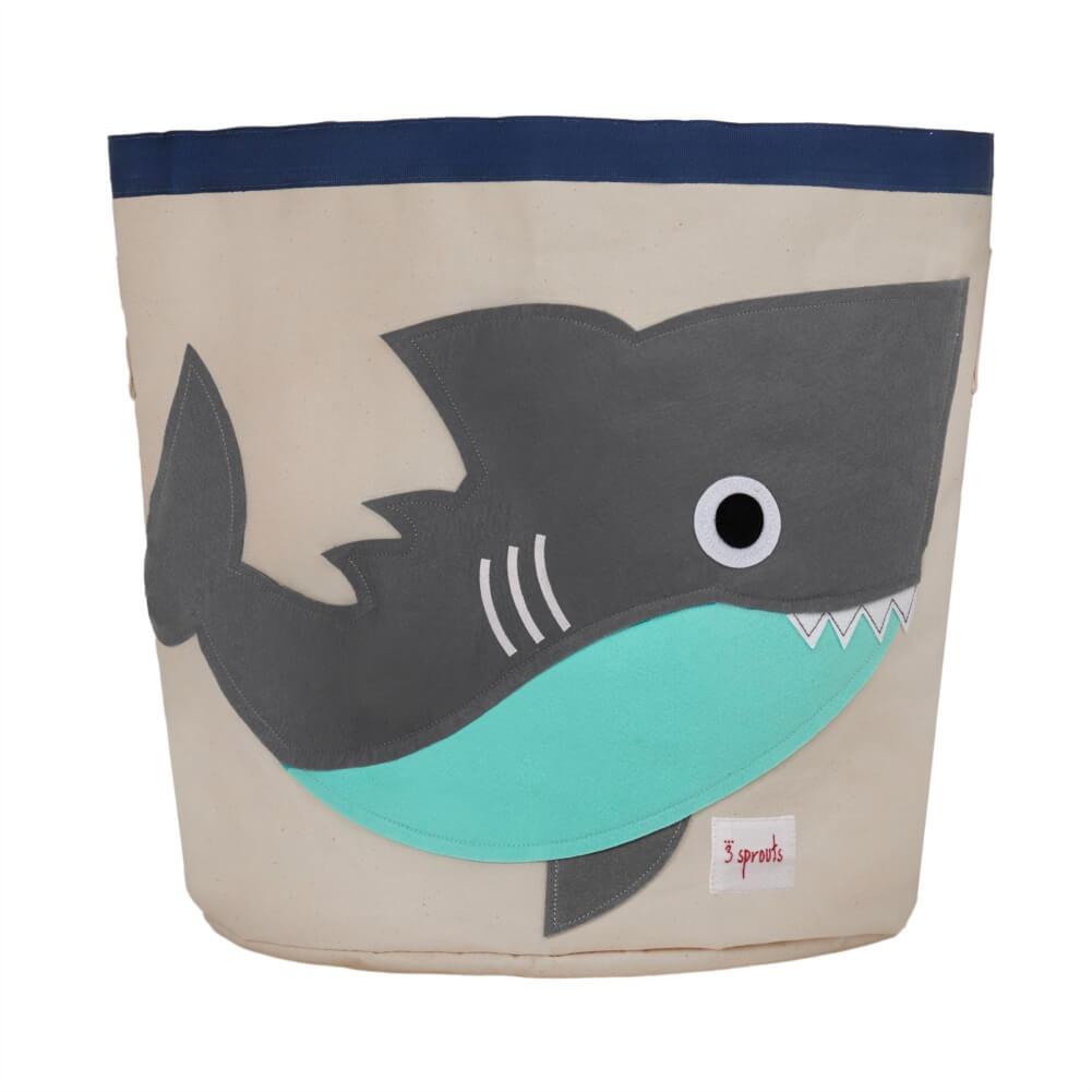 Organizador Infantil de Brinquedos Redondo Tubarão - 3 Sprouts