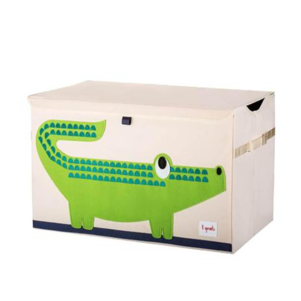 Organizador Infantil Retangular de Brinquedos Crocodilo - 3 Sprouts