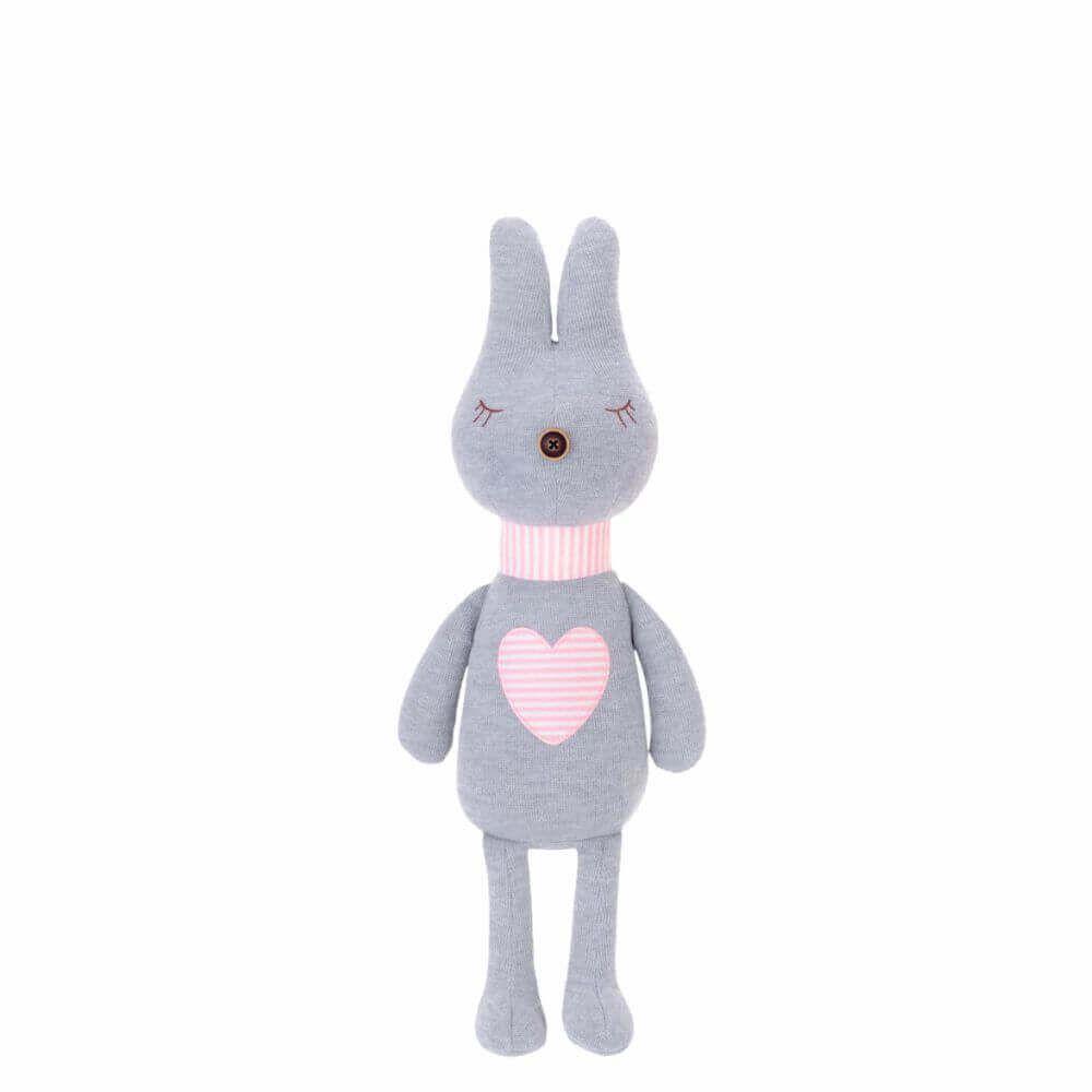Pelúcia Metoo Doll Bunny Retrô Coração Cinza (Unidade)