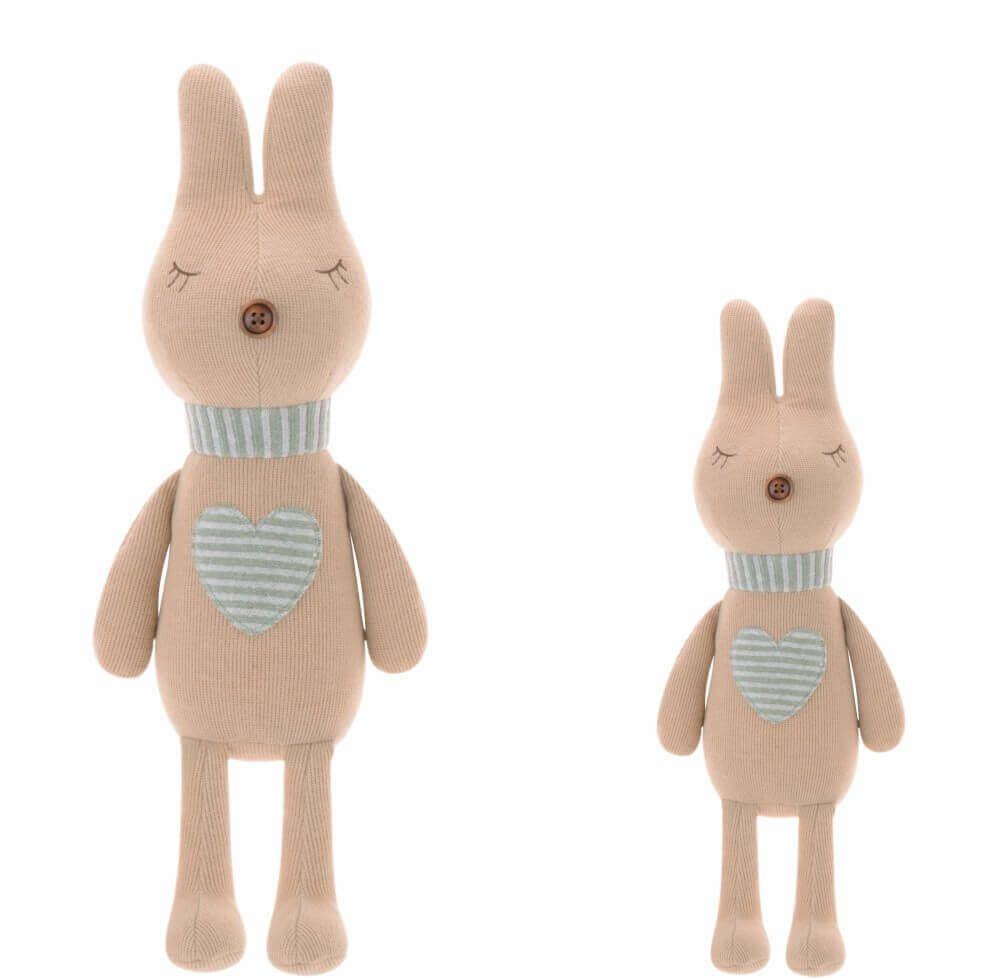 Pelúcia Metoo Doll Bunny Retrô Coração Nude (Unidade)