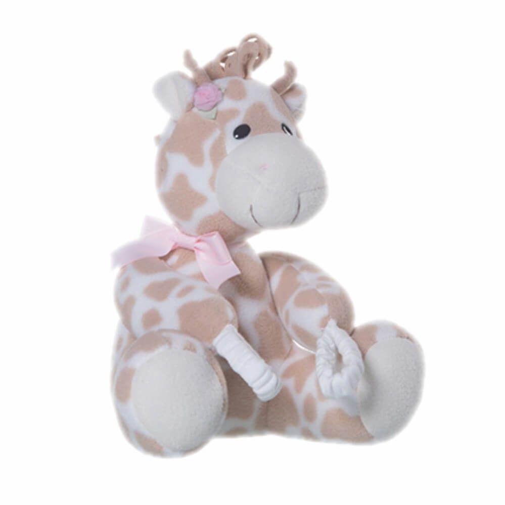 Pelúcia Para Proteção de Porta - Girafa Rosa