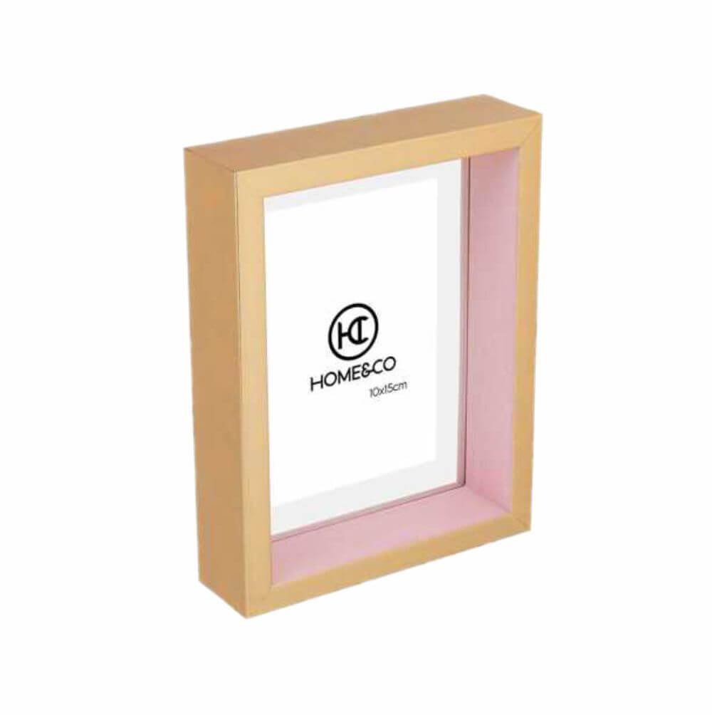 Porta-retrato Caixa Dourada