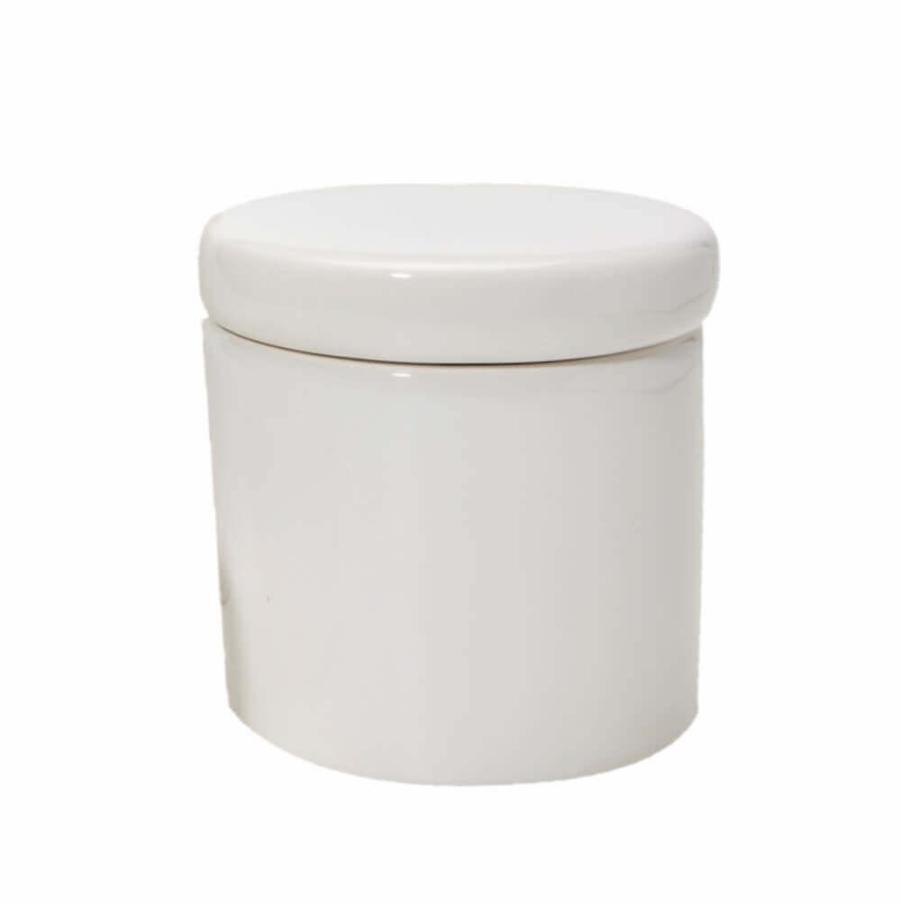 Pote Pequeno em Cerâmica Branca