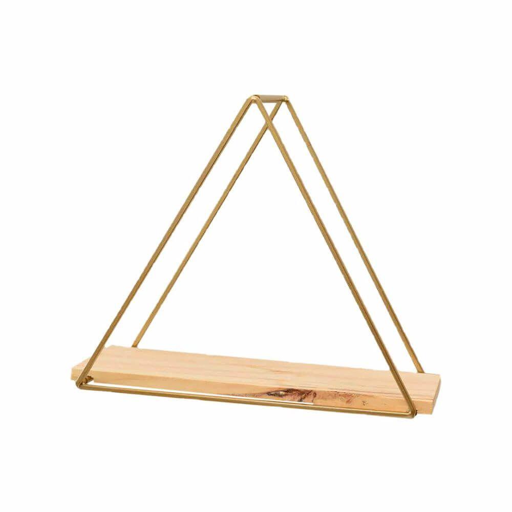 Prateleira Triângulo de Metal e Madeira (Unidade)