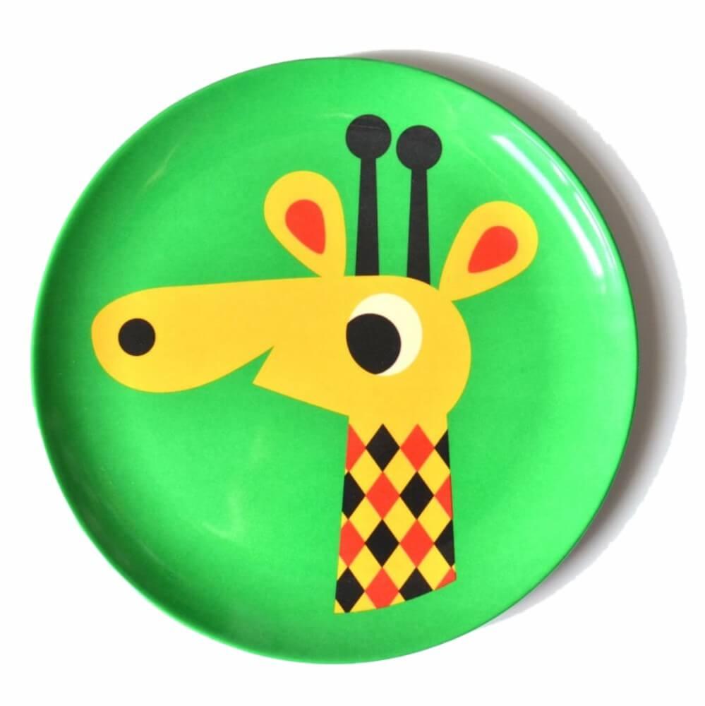 Prato Infantil de Melamina Girafa - OMM Design