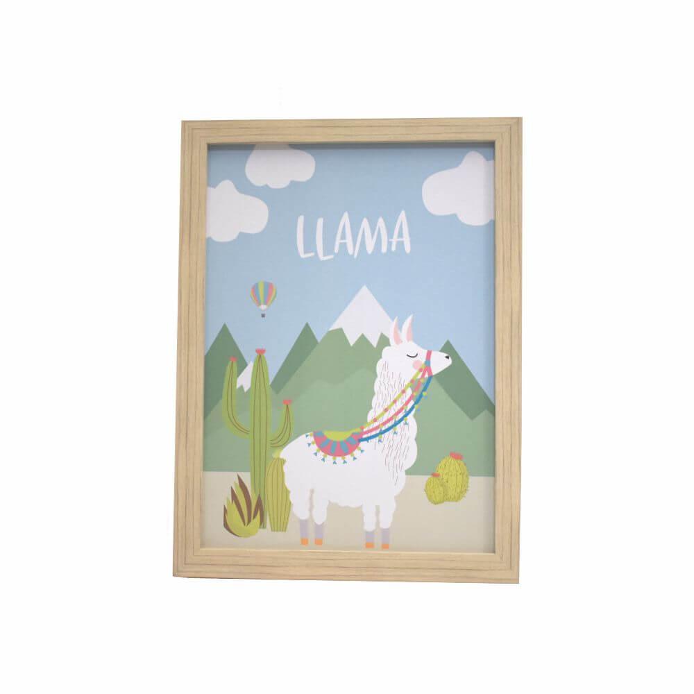 Quadro Decorativo Infantil Lhama (Unidade)