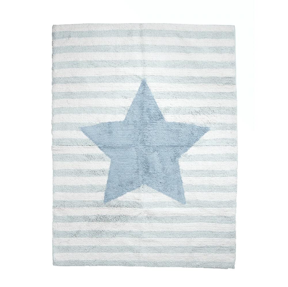Tapete Infantil Lavável Estrela Azul - büp baby