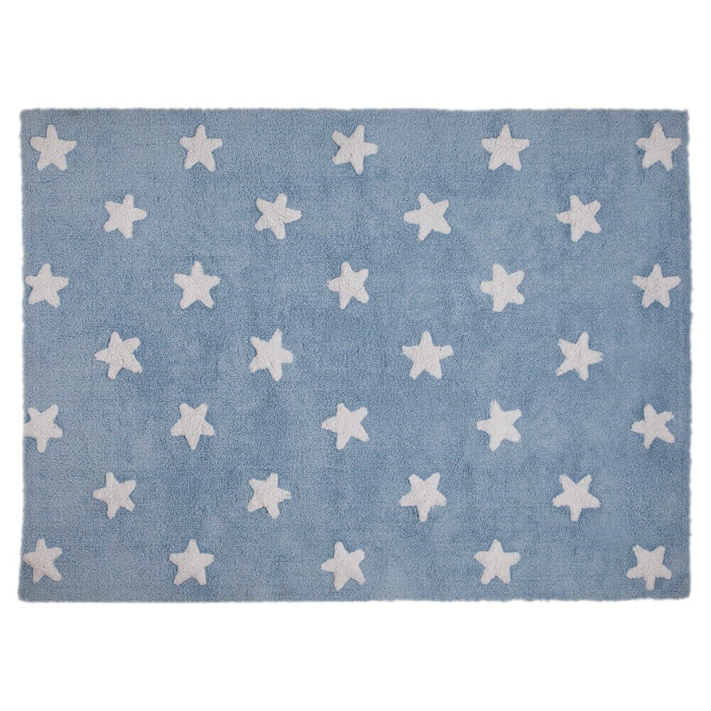 Tapete Lorena Canals Estrelas Azul-Branco