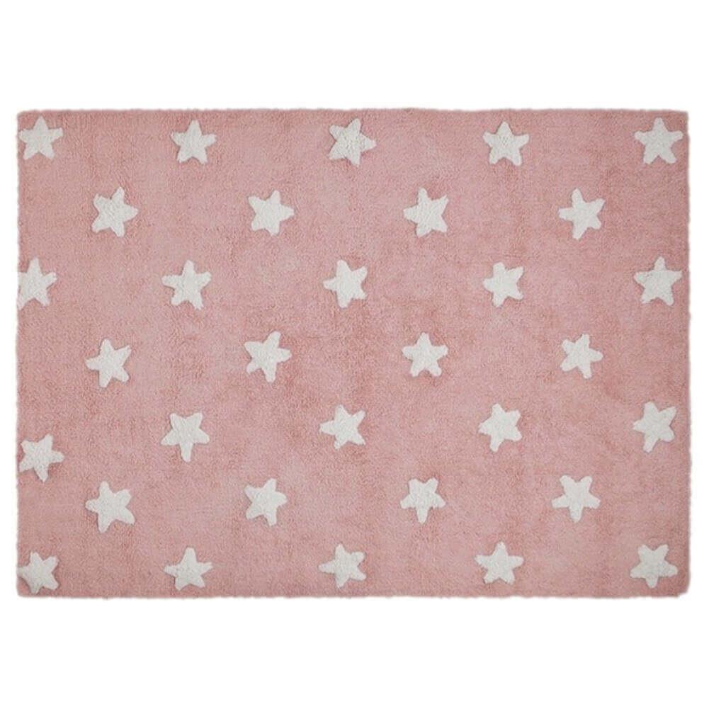 Tapete Lorena Canals Estrelas Rosa-Branco