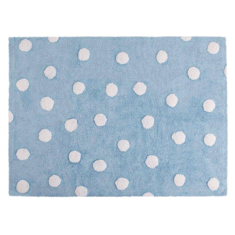 Tapete Lorena Canals Topos Azul-Branco