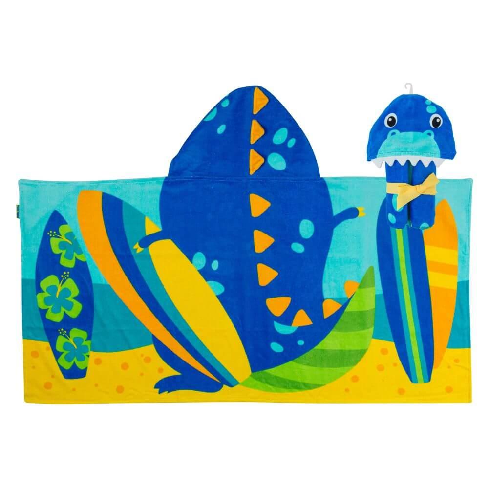 Toalha Stephen Joseph Infantil Dinossauro Azul