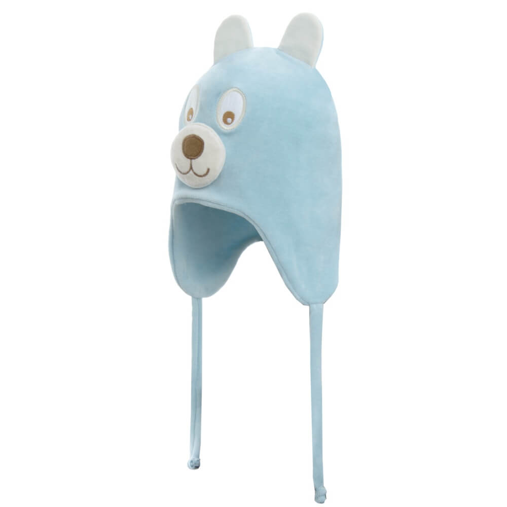Touca Infantil Bear em Plush - Azul