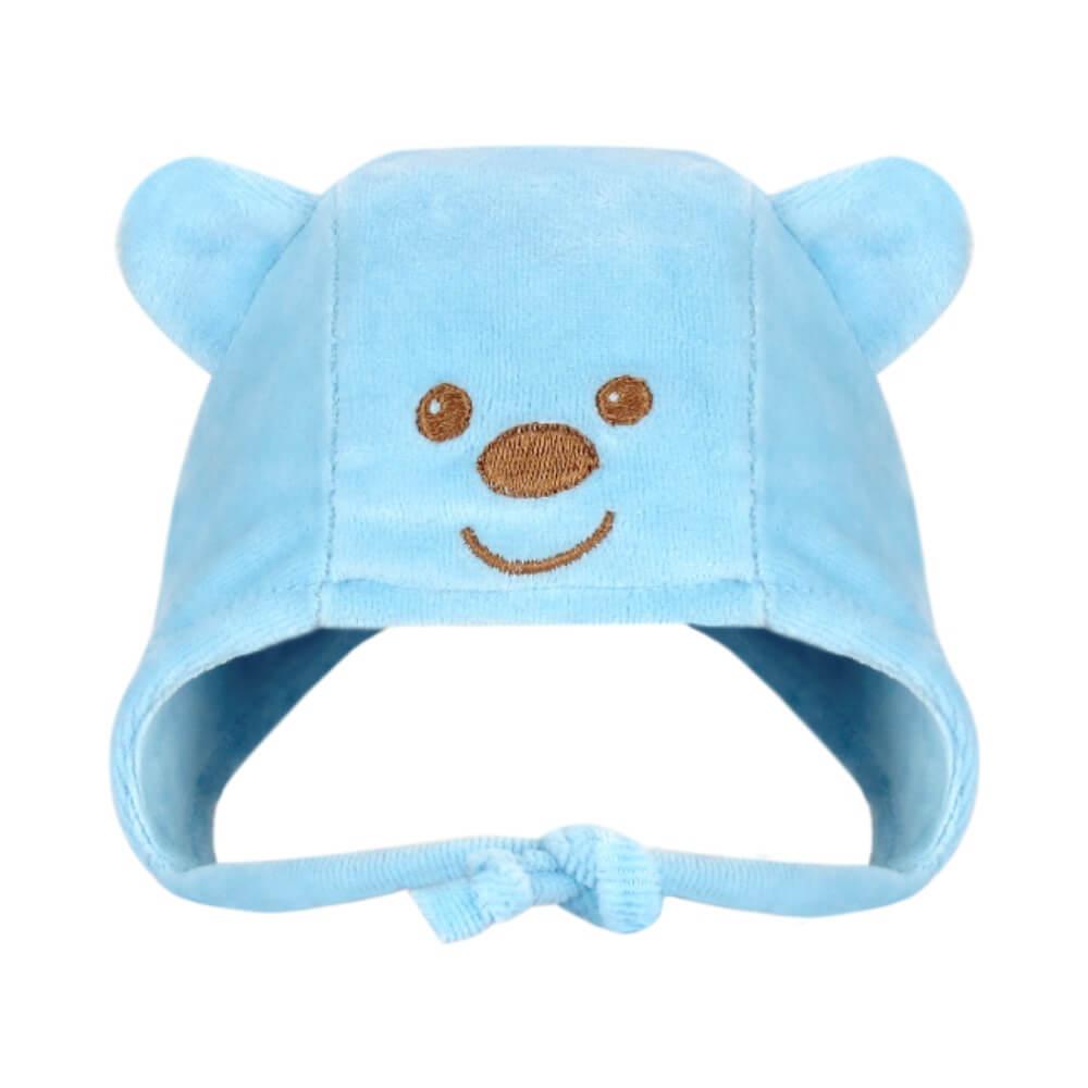 Touca Infantil Ursinho - Azul