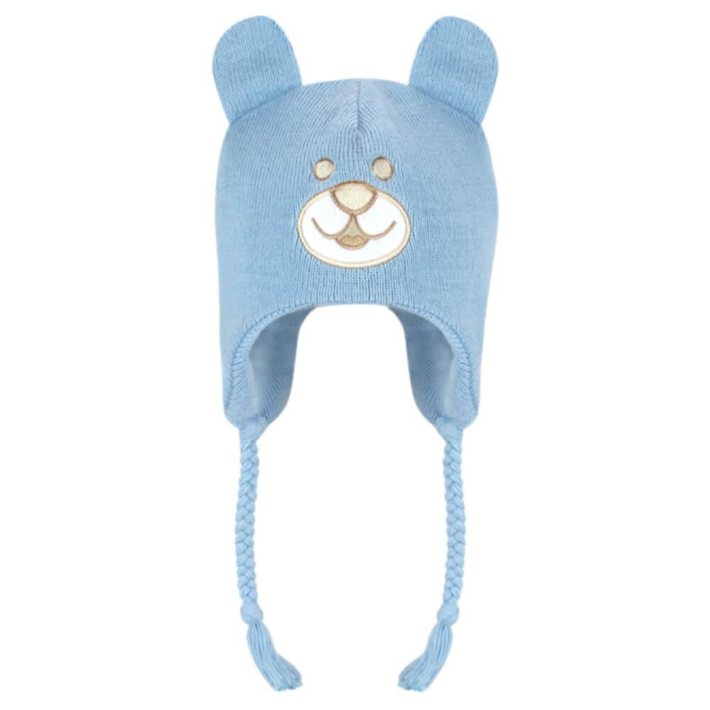 Touca Infantil Urso - Azul