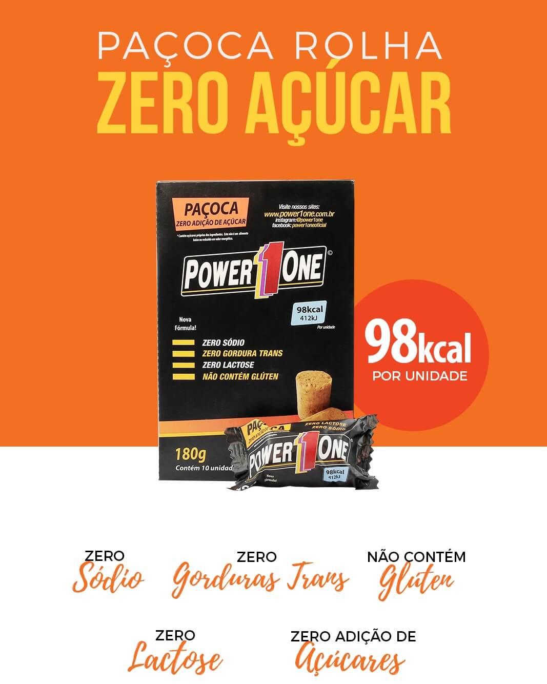 PAÇOCA ZERO 432g (24 unidades de 18g)