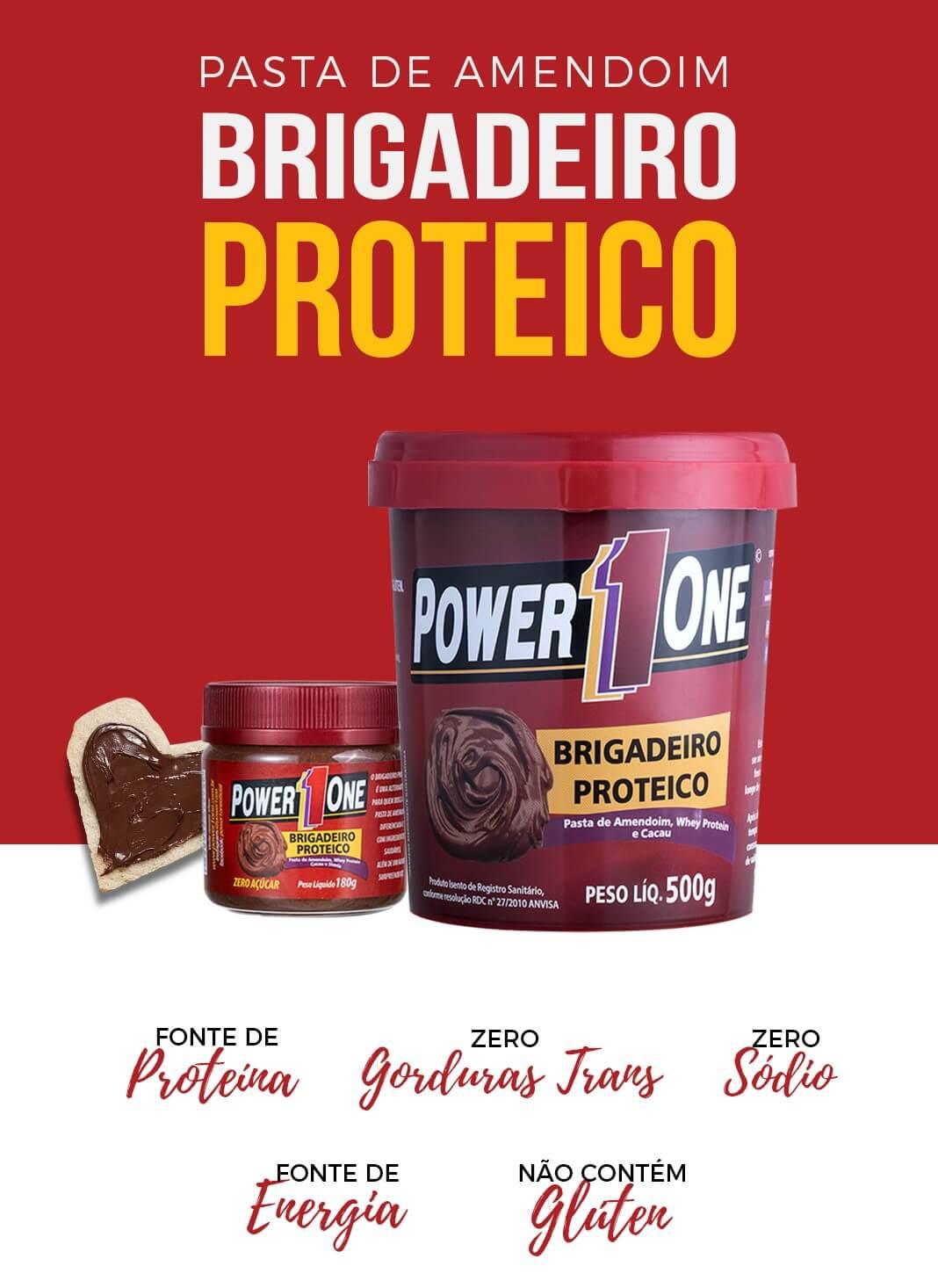 PASTA DE AMENDOIM BRIGADEIRO PROTEICO 500g