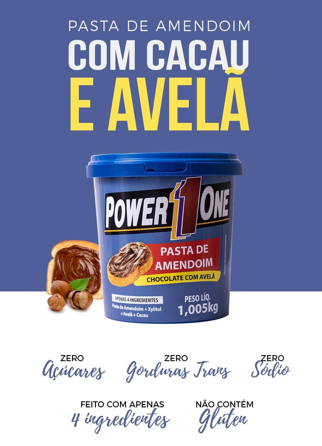 PASTA DE AMENDOIM CHOCOLATE E AVELÃ 1,005kg