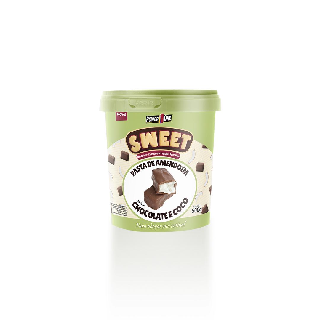 PASTA DE AMENDOIM SWEET SABOR CHOCOLATE E COCO 500G