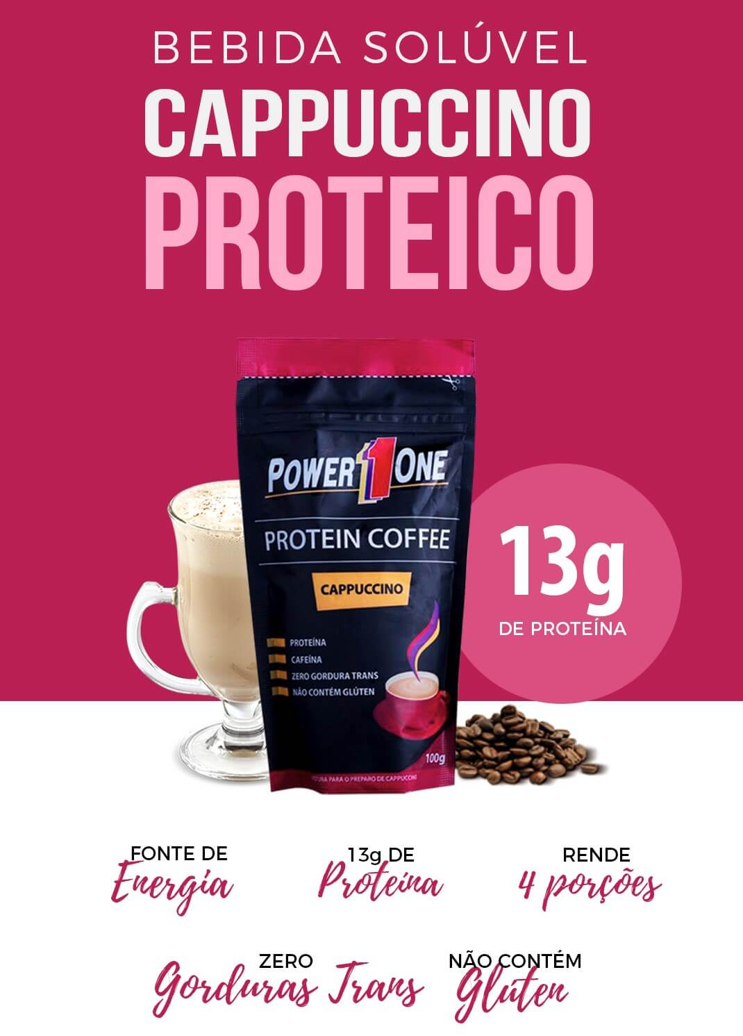 PROTEIN COFFEE CAPPUCCINO 100g