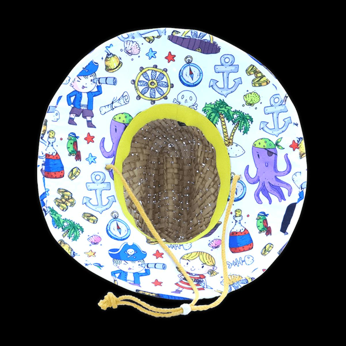Chapéu de Palha Importado LORD - Praia Surf Infantil Estampado