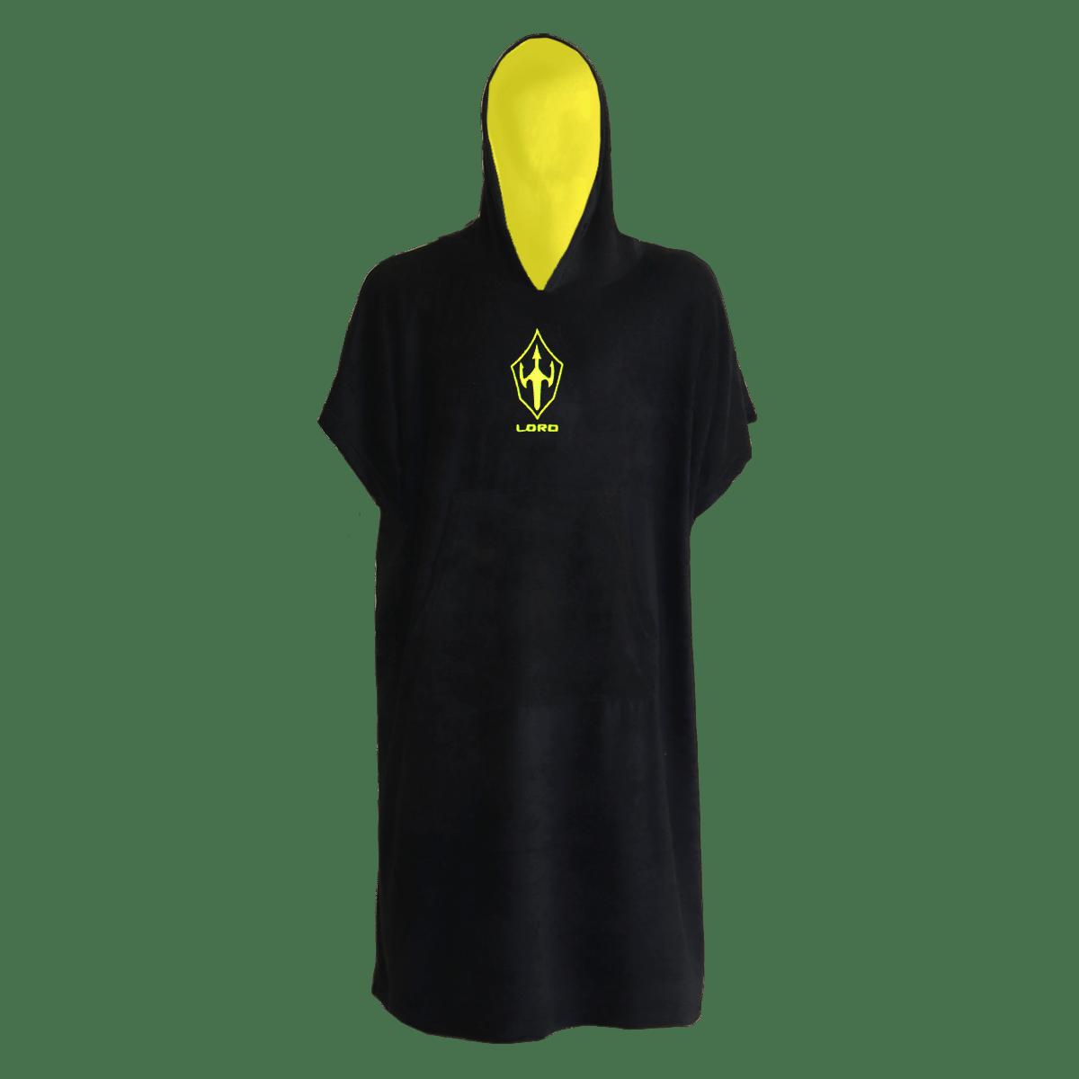 Toalha Poncho de Surf LORD Black Neon - Preto - Adulto