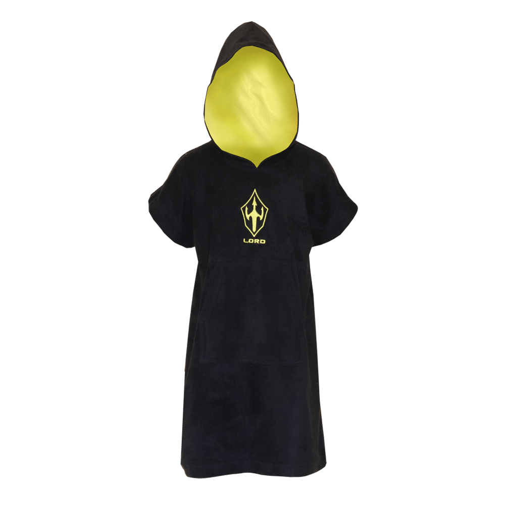 Toalha Poncho de Surf LORD Black Neon - Preto - Infantil