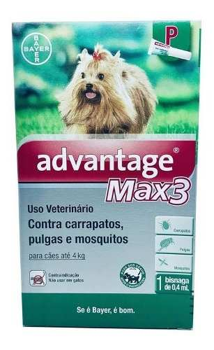 Antipulgas Bayer Advantage Max3 Para Cães Até 4 Kg