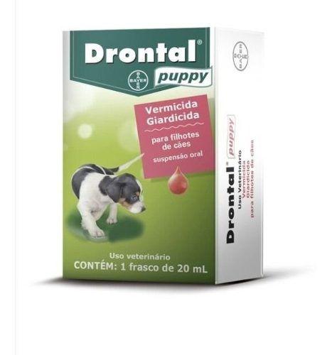 Vermífugo Drontal Puppy 20ml Cães Filhotes