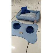Kit Maternidade 6 Peças Para Cachorro - Tamanho 60x50  Azul
