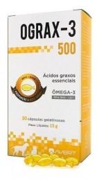 Ograx 500mg Omega-3 Avert 30 Capsulas Caes E Gatos